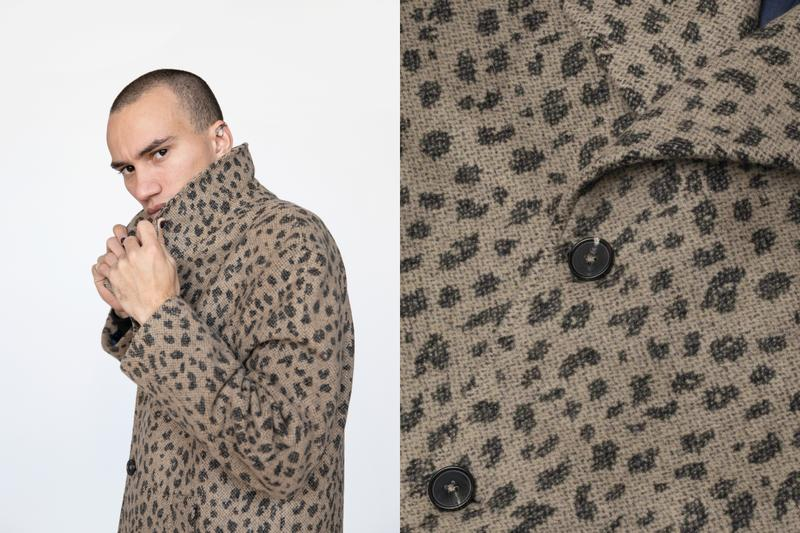 Cheetah Wool Coat